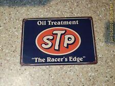 Stp The Racer's Edge Metal Sign Oil Treatment Tin Sign Stp Shop Oil Change Lube