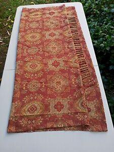 Vintage Curtain Kilim Design Thick Fabric Pencil Pleat Style 222 cms length