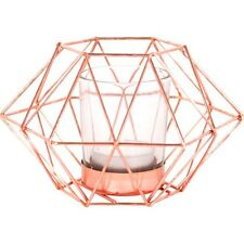 Copper Octagonal Geometric Tealight Candle Holder Quirky/gift/home Free P+P