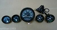 Willys MB Jeep Ford CJ GPW Gauges Kit - Speedometer Temp Oil Fuel  Ampere -Black
