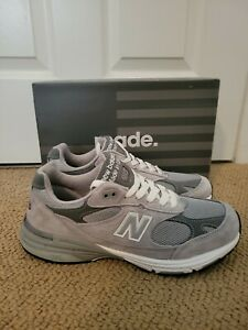 New Balance 993 Made In USA Shoes Sneakers - Gray 8.5 (2E Wide) (MR993GL)