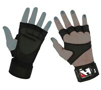 GYM GLOVES AUTHENTIC LEATHER WEIGHT LIFTING FITNESS CROSSFIT BODYBUILDING GLOVES