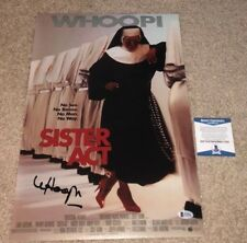 WHOOPI GOLDBERG SIGNED 12X18 MOVIE POSTER PHOTO SISTER ACT THE VIEW BAS