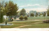 Saco Maine~Pepperell Park~Lush Green Lawn~Fountain 1906 Postcard