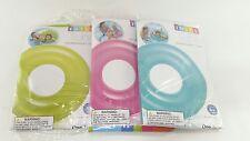 "Intex 30"" Transparent Water Swim Ring Pool Float Tube Inflatable 59260 Lot of 2"