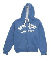 Superdry Womens Size S Graphic Cotton Blue Hoodie (Regular)