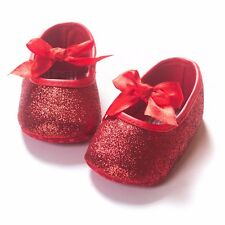 Baby Toddler Shoes Girl Soft Sole Mary Jane Lace Anti-slip Shoes 0-18 Months UK
