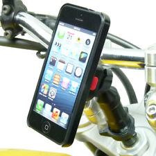 Universal Extended Motorcycle Stem Mount and TiGRA Fitclic Case for iPhone SE