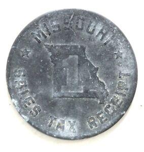 Vintage Missouri Sales Tax Receipt Token Coin #1