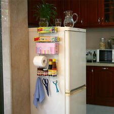Over the Door Fridge Storage Rack 4 Shelves Hook Kitchen Pantry Organizer Holder