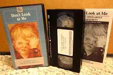 DON'T LOOK AT ME documentary VHS w/ booklet Children Feeling Different pressure