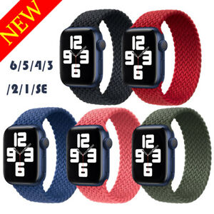 [Real Size] For Apple Watch 6 SE 5 4 3 2 Braided Solo Loop Strap Nylon Band