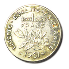 Prefontaines Now in America 1 Bonne Chance Franc 1961 26mm Wine Trade Token