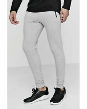 BNWT Mens Boohoo man Skinny fit active gym joggers with zip pockets Size Medium