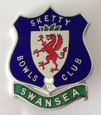 Swansea Sketty Bowls Bowling Club Badge Pin Rare Vintage UK (M19)