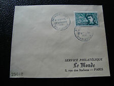 FRANCE - enveloppe 1er jour 27/10/1951 (rimbaud) (cy50) french