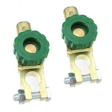 Universal 2xGreen Battery Link Terminal Quick Cut-off Disconnect Master Switch