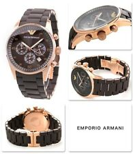 Emporio Armani AR5890 Brown Chronograph Men's Watch in NEW BOX