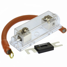 (1) 150 AMP ANL Fuse & (1) Inline Fuseholder Battery Install Kit 1/0 Gauge 1FT