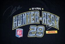 Ryan Hunter-Reay #28 DHL autographed men's large t-shirt - 2014 Indy 500 Champ