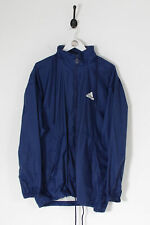 Vintage Hommes Adidas Anorak Veste Bleu Marine (L)