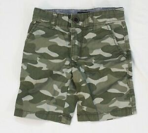 Gap Boy's Pull-On Easy Shorts with Stretch CD4 Green Camo Small (6-7) NWT