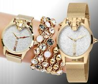 Just Cavalli jc1l057m0335 jc shine armbanduhr damenuhr meshband zweifarbig neu