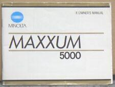 Minolta Maxxum 5000 Instruction Manual