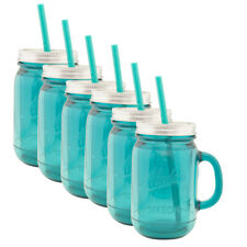 6pk Aladdin 20oz Plastic Mason Jar Tumbler With Straw and Lid Travel Home Work