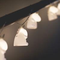 Smoko Kawaii Cute White Unicorn Light String Battery Portable Patio Dorm Window