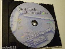 CD Great Popular Instrumental Solos (1999 WB Pub.) Piano Trumpet Flute Sax