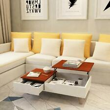 Modern Lift Top Coffee Table w/ Hidden Compartment & Storage Drawer Living Room