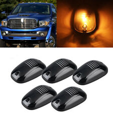 5pcs Amber 9-LED Cab Roof Marker Lights For Car Truck SUV 4x4, Black Smoked Lens