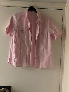 Pink Cotton Size 14 Blouse