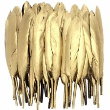 72 Gold Feathers DIY Craft Wedding Party Dress-up Decor Hair Ornament 4''-6''