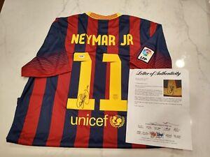 Neymar Jr. Autographed Signed Nike FC Barcelona Jersey PSA DNA COA Authentic