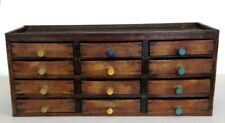 Antique Watchmakers 12 Drawer Wooden Cabinet Early 20th cent. Some Spare Parts