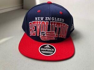MLS New England Revolution Men's 2 Tone Flat Brim Snapback Hat - One Size - NEW