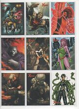 RITTENHOUSE 2009  MARVEL X MEN ARCHIVES FULL 72 CARD BASE SET