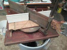 Antique Vintage Stanley no. 360 Miter Saw Box & Blade Daja de ingletes y sierra