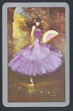 #930.021 vintage swap card -EXC- Spanish dancer, purple dress