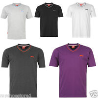 NEW MENS BOYS GENTS SLAZENGER V NECK PLAIN SHORT SLEEVE CASUAL T SHIRT TOP SIZE