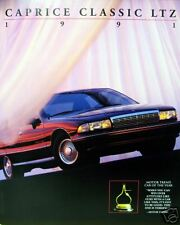 1991 Chevrolet Caprice Classic LTZ new vehicle brochure