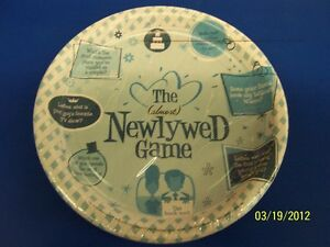 """The (Almost) Newlywed Game Bridal Shower Wedding Party 7"""" Paper Dessert Plates"""