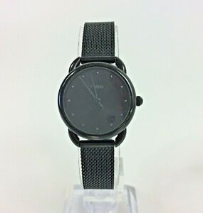 Fossil Tailor Black Ladies Watch  ES4489 New Battery Mesh Band Adjustable Band