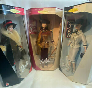 Barbie Lot Of 3 Mattel City Seasons Collector Edition 1998-99 Fall Winter Spring