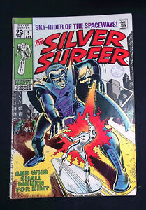 Silver Surfer (Vol.1) #5 Silver Age Marvel Comics VG
