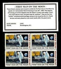1969 Apollo 11 First Man on The Moon United States Postage Stamps Block  8S-C76