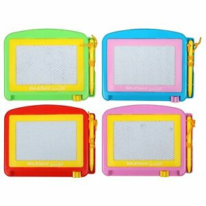Magnetic Drawing Board Draw & Slide To Erase No Knobs No Shake Various Colors