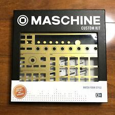 Native Instruments MASCHINE Custom Kit Faceplate Buttons Gold Drum Machine MIDI
